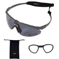 Nuprol Battle Pro's Airsoft Glasses, Grey Frame & Smoked Lens